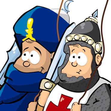 Cartel Moros y Cristianos Infantil